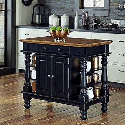 Home Styles 5082-94 Americana Black Kitchen Island Black NEW
