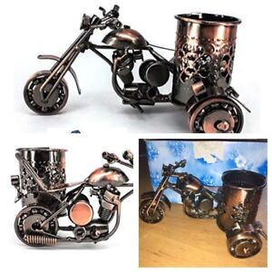 Brand New Metal Motorcycle pen holder