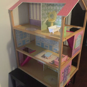 2 sided wooden Barbie house