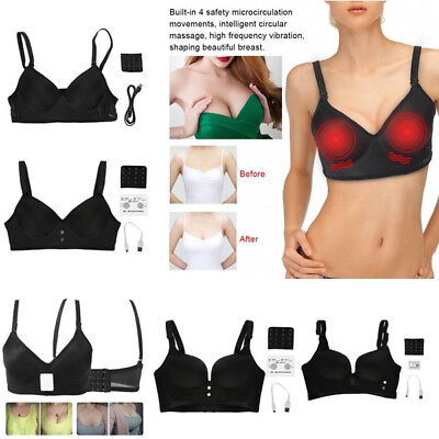 Electric Breast Enhancer Vibrating Massager Bra Healthy Breast Enlarger Cup Lady