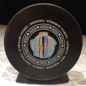 2016 World Cup of Hockey Official Warm Up Puck London Ontario image 1