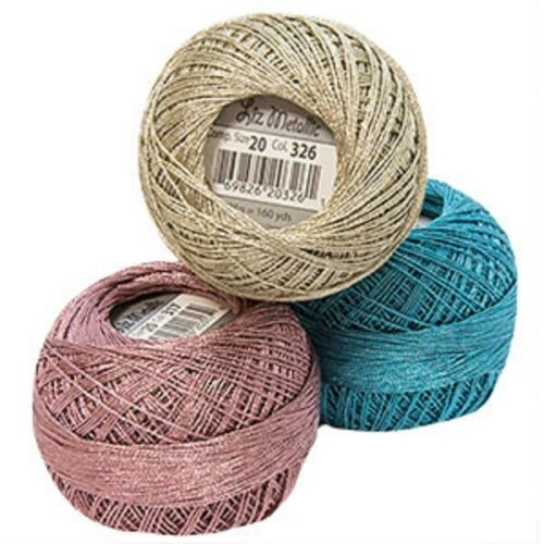 Lizbeth Metallic Crochet/Tatting Thread-Size 20