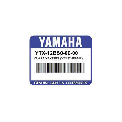 Yamaha Replacement Battery For Ef3000iseiseb Generator - Ytx-12bs0-00-00