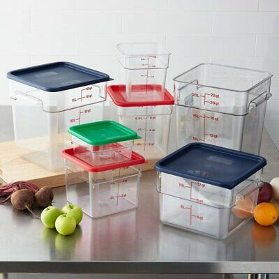 All Size 2 - 22 Qt. Square Food Storage Containers Lid Cambro