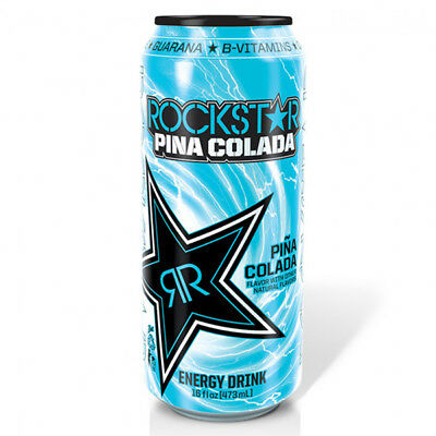 Rockstar Pina Colada Energy Drink 16 Oz Cans -  Pack of 24