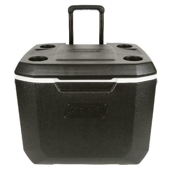 Coleman 50-Quart Xtreme 5-Day Heavy-Duty Cooler with Wheels.