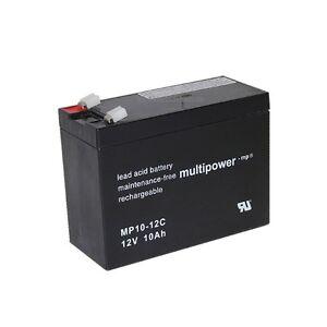 Multipower Blei-Gel Akku AGM MP10-12C 12V 10Ah Zyklenf. Batterie Accu Weidezaun