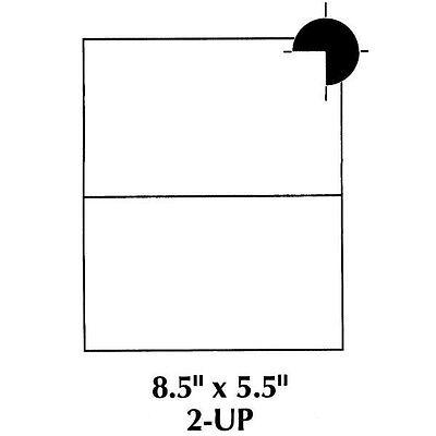 1000 Self Adhesive Shipping Labels 2 Per Sheet 8.5 x 5.5 - eBay UPS USPS 5126