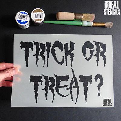 Halloween Decoration Stencils Trick/Treat Crafts Paint Reusable Window Display ()