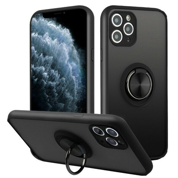 iPhone 11 / 11 Pro Max - Black Frosted Magnetic Kickstand Ri