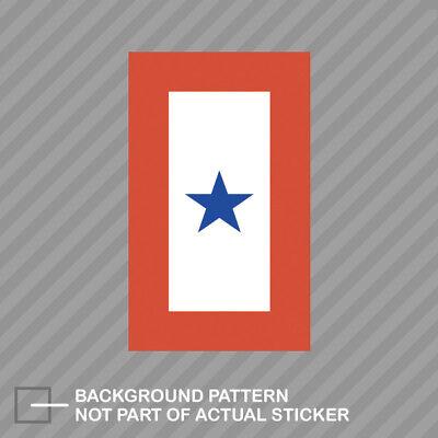 Blue Star Service Flag Sticker Decal Vinyl Self Adhesive members (Blue Star Service Decal)