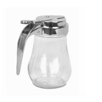Clear Square Glass Holder - 6 oz Glass Syrup Honey Dispenser Holder Clear Solid TH