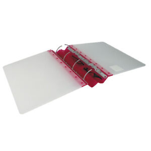 Guildhall GLX Ergogrip Frosted A4 Ring Binder Raspberry (Pack of 2) 4545