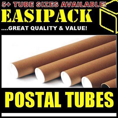 300 x A1 Postal Cardboard Poster Tubes 50.8 x 640mm (2