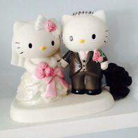 Hello Kitty wedding bride and groom