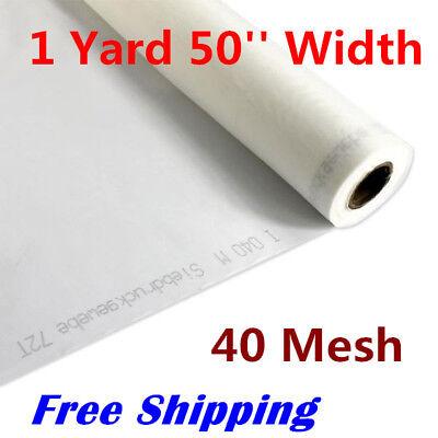 1 Yard 40 Mesh 50 Width Silk Screen Fabric 16t 100 Monofilament Polyester