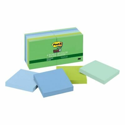 Super Sticky Notes 3x3 90 Shtpd12pk Tropical