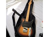 Peavey Generstion EXP Telecaster Electric guitar, Stratocaster lookalike, amp and case