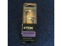 TDK Bass Boost Alluminium brushed headphones