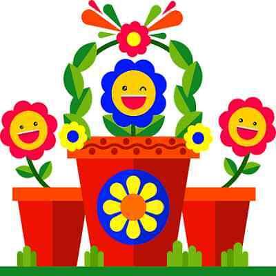 30 Custom Happy Flower Art Personalized Address Labels
