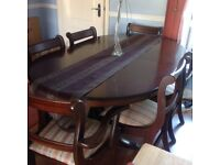 Mahogany Unit +matching Table and 6 Chairs