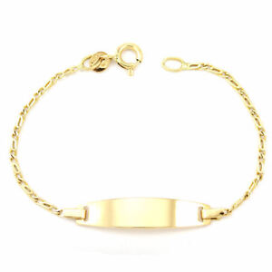 18k Yellow Gold Baby Name Plate Bracelet (5.5 inches) #3730