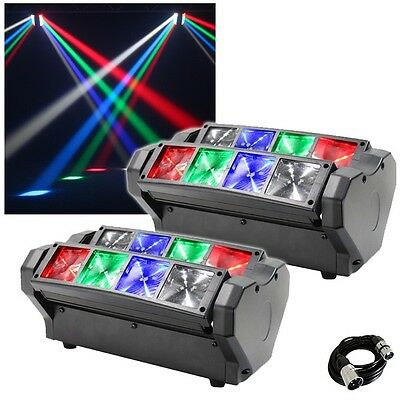 2x Equinox Onyx DJ Disco LED Beam Lighting Effect with FREE DMX Cable