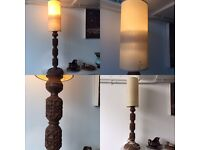Midcentury handcrafted table lamp with shade