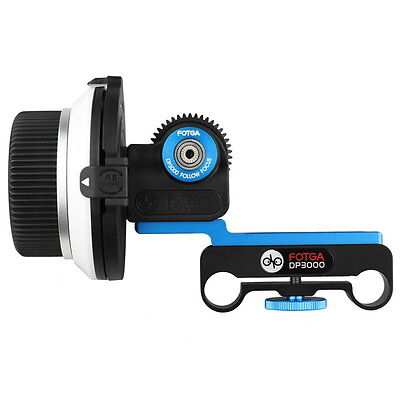 Fotga DP3000 follow focus for DSLR 5D II III 7D D90 15mm rod gear size optional