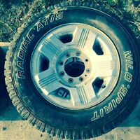 Ford superduty 8 bolt rims and tires