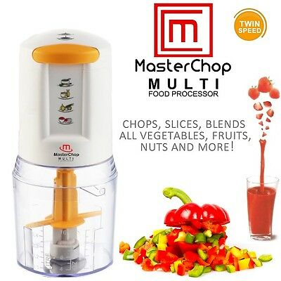 MasterChop Multi Food Chopper Electric Blender Mini Kitchen Food Processor Bowl