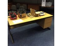 Office desk with built in drawers 1700mm