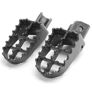 Yamaha Motocross MX Black Foot Pegs Footrests - PW50, PW80, TTR9