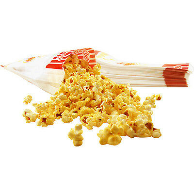Paper Popcorn Concession Bags - Set Of 100 - 7 12 - Partybarbanquet Supplies