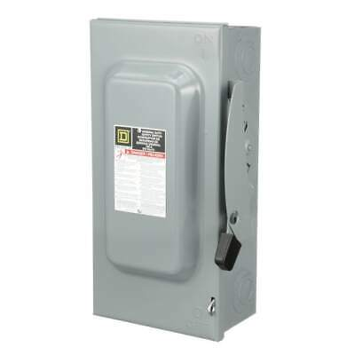 New Square D D323n 100-a 240-v 3-pole Fusible Indoor General Duty Safety Switch