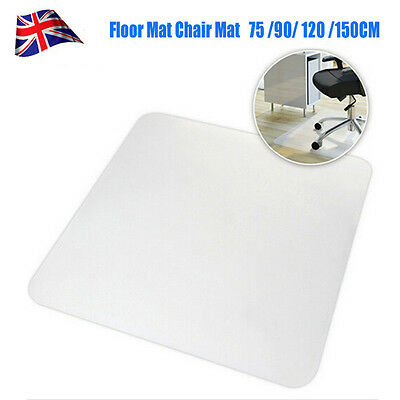 Hard Floor Protector Home Office Chair Mat Non Slip Clear Frosted PVC 900 X 900