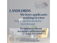 Boutique Lettings - Landlords Wanted, Properties Needed for Waiting Applicants