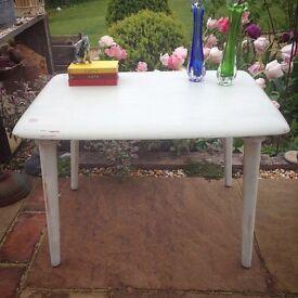Retro vintage grey wood coffee table