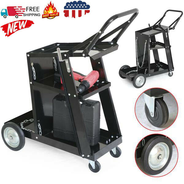 Professional Welding Cart Plasma Cutting Machine without Drawer Black US