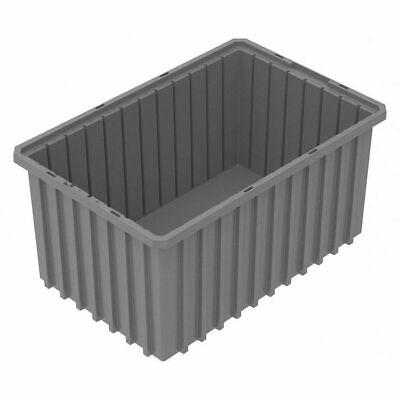 Akro-mils 33168grey Gray Divider Box 16 12 In X 10 78 In X 8 In H 1 Pk