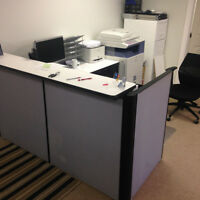 Sturdy Reception Desk with filing cabinet- Good Condition
