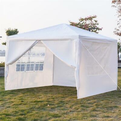 """10""""x10"""" Outdoor Canopy Party Wedding Tent Heavy Duty Gazebo Garden BBQ W/ 4 Wall"""