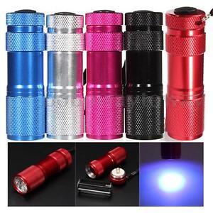 9-LED-Elfeland-Violet-UV-Blacklight-Flashlight-Torch-Light-Lamp-CSI-Forensics