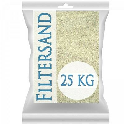 25 kg Filtersand Quarzsand Poolfilter Poolsand Filteranlagen