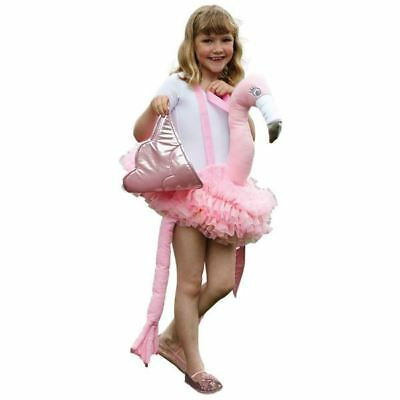 Ride on Flamingo Kids Fancy Dress 3+ Years Animal Bird Book Day Childs - Kids Flamingo Costume