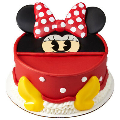 Minnie Mouse Disney Creations Cake Decoration Set  - Minnie Mouse Cake Decoration