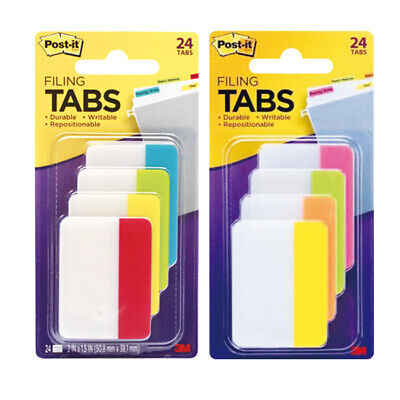 3m 686-ploy Post-it Filing Tabs Durable Writable 24 Tabs Select