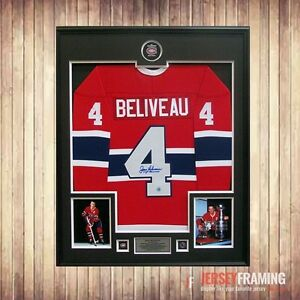 Jean Beliveau authentic autographed jersey