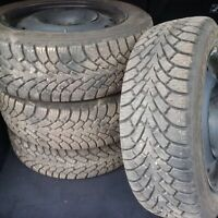 205 55 r16 winter Goodyear tires with rims