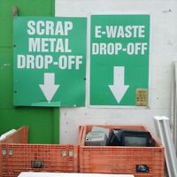 Recycling drop off for any metal or electronic waste